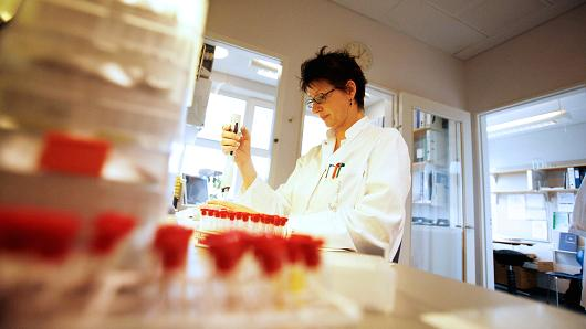 John Mcconnico | Bloomberg | Getty Images A lab technician at Pharma Novo Nordisk conducts in vitro research in Malov, Denmark.